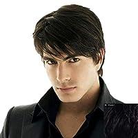 Men's Black Short Straight Wig