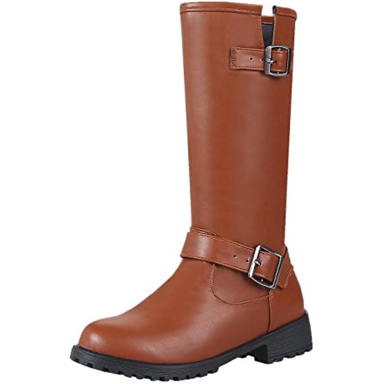 AgeeMi Shoes Femme Pointu Zip à Talon - Correct Zip Bottes - B0789QLMFR - Talon 87f923