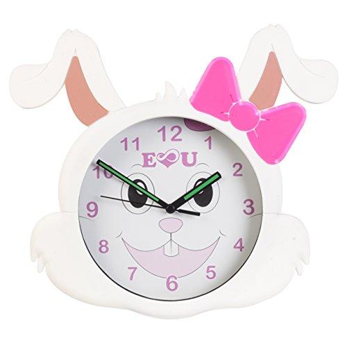 Reloj de pared de conejo AniClock Time Teacher–un regalo perfecto para los niños y las niñas, la fácil de leer cara vibrantes colores hace tiempo enseñanza Fun un perfecto reloj para dormitorio cuarto de juegos bebé Nursery Decor
