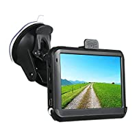 KKmoon 5inch Portable GPS Car Navigation 128M 8GB Car Navigator with Back Support Free Map HD Touch Screen