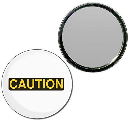 Caution - 55mm ronde de miroir compact