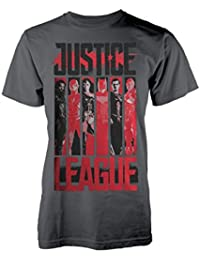 DC Comics Justice League T Shirt Striped Characters New Official Men