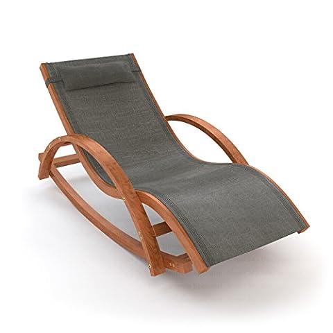 Chaise Longue A Bascule Jardin - Ampel 24, Chaise longue de jardin à
