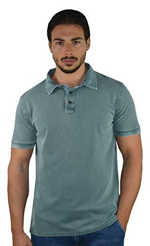 e2561f035690 1st American Polos Shirt Hombre Manga Corta 100% Algodon Piquet Enzime Wash