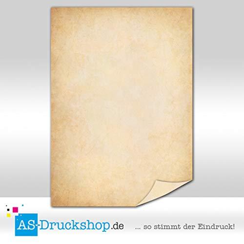 Papiro/pergamena-dunkelbraune struttura/25fogli/din a5/90g di offset carta