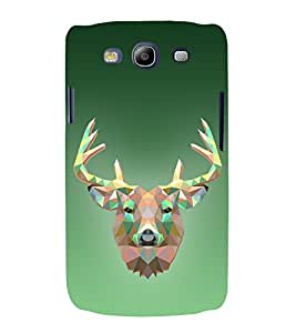 Graphic 3D Deer 3D Hard Polycarbonate Designer Back Case Cover for Samsung Galaxy S3 :: Samsung Galaxy S3 i9300