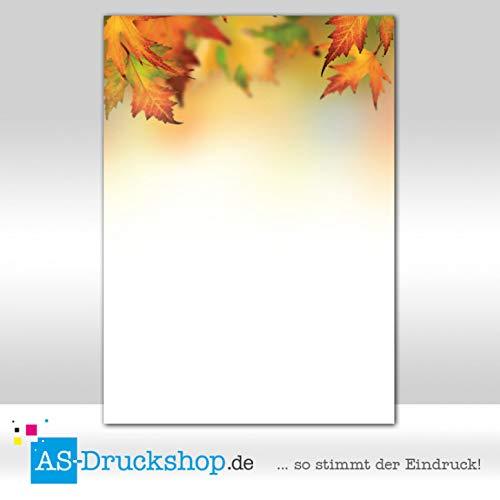 Herbst Blatt 2-licht (Motivpapier Herbst - Herbstwald / 50 Blatt/DIN A4 / 90 g-Offsetpapier)