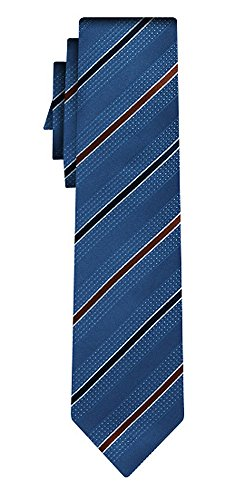 BOSS Seidenkrawatte BOSS stripe blue gold navy