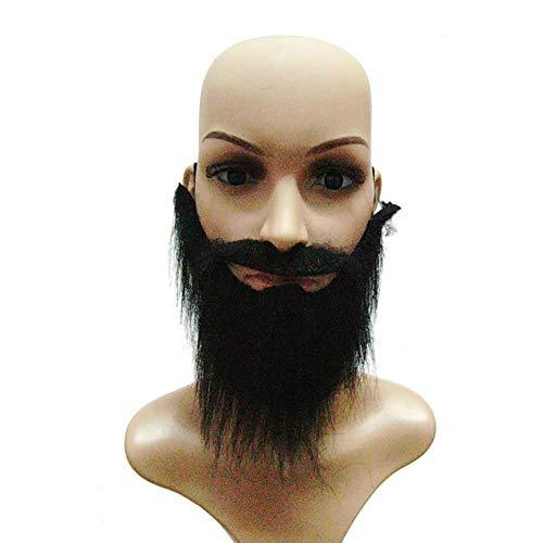 (1pc Halloween Fake Beard Mustache Toy Masquerade Requisiten für Bühne und Party (schwarz))