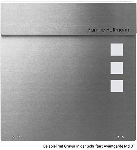 Frabox NAMUR EXKLUSIV Edelstahl Design Briefkasten - 6