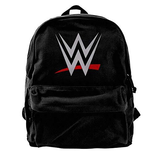 Canvas Backpack WWE Rucksack Gym Hiking Laptop Shoulder