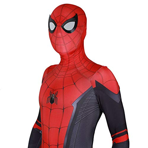 JUFENG Erwachsene Kinder Spider-Man 2019 Halloween Kostüm Overall 3D Print Spandex Lycra Spiderman - Cosplay Body,B-Adult/L (Mann Spiderman Kostüm)