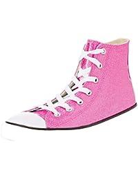 Converse Unisex-Kinder CTAS Hi Bright Violet/Natural/White Hohe Sneaker, Pink (Bright Violet/Natural/White), 20 EU