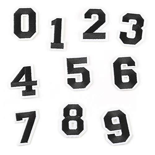 Nummer 9 Applique (CAOLATOR. Kleidung Applikation DIY Kleidung Patches Nummer 0-9 Flicken Patches Patches Aufbügeln Applique Nähen Patch für T-Shirt Jeans Taschen Schuhe Hüte)