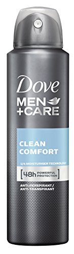 Dove, Men+Care, Deodorante spray Clean Comfort, 3 pz. da 150 ml