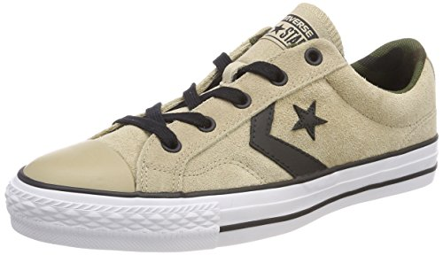 Converse STAR PLAYER OX VINTAGE KHAKI/BLACK/WHITE, Unisex-Erwachsene Low-top, Braun (Vintage Khaki/Black/White 270), 40 EU (7 UK) - Vintage Converse Sneakers