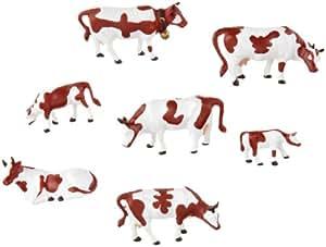 Noch - 15723 - Modélisme Ferroviaire - Figurine - 7 Vaches - Brun/blanc