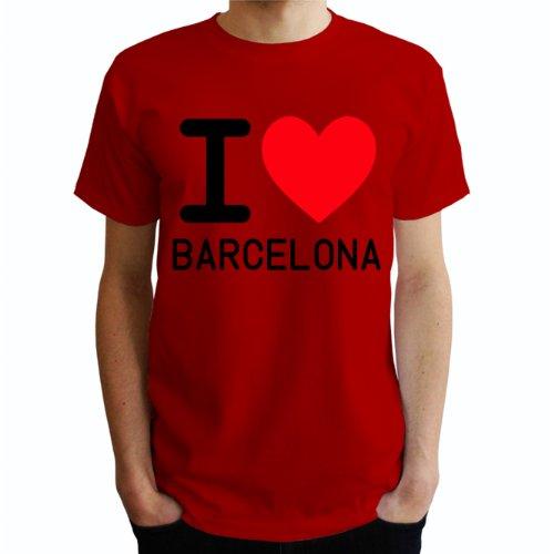 I love Barcelona Herren T-Shirt Rot