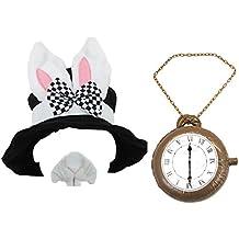 ILOVEFANCYDRESS - Sombrero con orejas de conejo, reloj hinchable y nariz de conejo , accesorios para disfraz