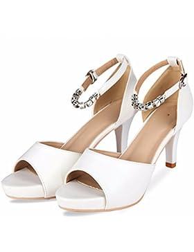 SDKIR-La ragazza sandali estivi, pelle ammenda con alta scarpe tacco, acqua punta resistente desktop pesci di...
