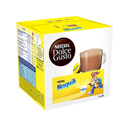 Nescafé Dolce Gusto Nesquik - Chocolat - 48 Capsules (Lot de 3 boîtes x 16)