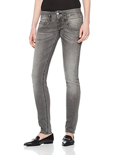 Herrlicher Damen Jeans Pitch Slim, Schwarz (Dark Ash 720), W28/L30