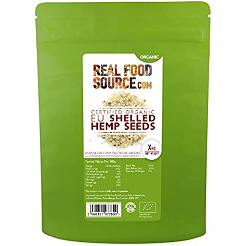 RealFoodSource Certified Organic EU Raw Shelled Hemp Seeds