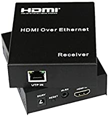 ANDTRONICS HDMI Extender/Repeater Over LAN RJ45 CAT5e CAT6 with IR - up to 120M Distance Support 1080p, HDCP 1.2/1.1, TCP/IP Standard
