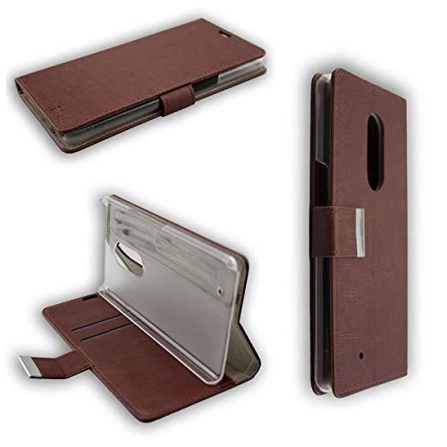 caseroxx Hülle/Tasche Bookstyle-Case HP Elite X3 Handy-Tasche, Wallet-Case Klapptasche in braun