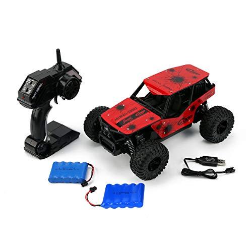 Deer Man 1:16 25KM / H Fuoristrada 2.4GHz Auto da Arrampicata 500mAh Cross Country Toy Toy Telecomando Modello 2 batterie (Rosso) (Togames)