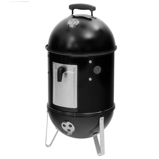Weber-Smokey-Mountain-Cooker-37cm-barbecues-grills-Barrel-Black-Round-Aluminium-Steel
