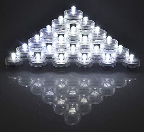 Satz von 36 wasserdichte Hochzeit Tauchbatterie LED Teelichter Unterwasser Unterlichter-Hochzeit Mittelstücke Party dekorieren (weiß) (Mittelstücke Geburtstag 40. Für)