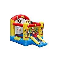 Happy Hop Kids Clown Slide & Hoop Bouncy Castle 60 Second Inflate Everything in 1 Box