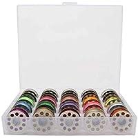 Mengonee Tema 25 piezas de bobinas con cinta métrica enhebrador 8pcs botones Configuración de la máquina