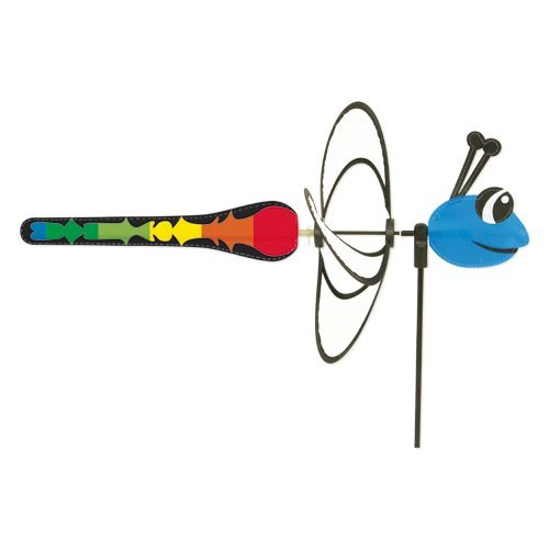 le Magic Dragonfly - UV-beständig und wetterfest - Windrad: Ø28cm, Motiv: 35x13cm, Gesamthöhe: 85cm - inkl. Fiberglasstab (Dragonfly) ()