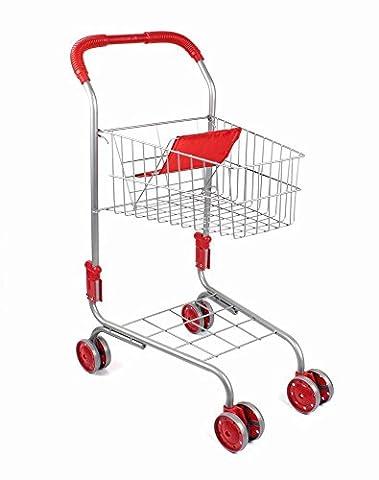 Vinsani Children Kids Metal Toy Shopping Trolley Basket Supermarket Pretend Play