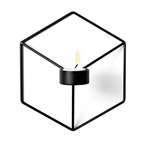 F.lashes Candleholder Teelichthalter Wall Wand Kerzen Halter Leuchter Kerzenhalter Kerzenleuchter Chrome Einfache schwarze Goldeisenkunst 3D Metall Geometrische Wand-Kerzenhalter - Kerze-halter-wand-dekoration