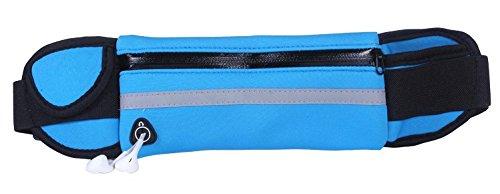 KANG@ Sport Taille Pack Multifunktions Running Männer und Frauen Outdoor Handy Tasche Anti-Diebstahl intime Stealth wasserdicht Beutel Wasserdichte Deep Blue