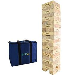 Big Game Hunters - Mega Hi-Tower im Sack - Riesenwackelturm KieferBlock-Spiel, Riesen 0,9 Meter bis maximal 2,3 Meter Turmblock-Holzspiel - Großwildjäger