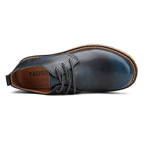 ZXCV Scarpe all'aperto Scarpe di cuoio Oxfords Casual Dress Casual Blu