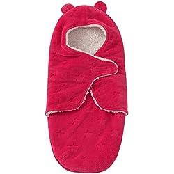 Pueri Saco de Dormir para Bebé Recién Nacido Peleles Infantiles con sentido Confortable (Rosado)