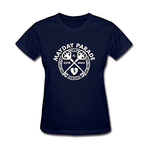 kettyny Mujer Mayday Parade diseño algodón T Shirt