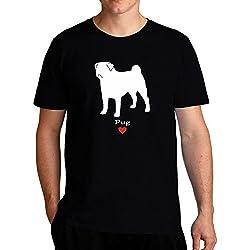 Eddany Pug love Camiseta