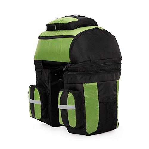 vitalite-cycle Fahrrad Tasche Bike Double Side Packtaschen hinten Rack Schwanz Sitz Trunk Bag Grün