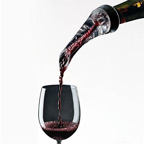 FosFun Weinbelüfter Ausgießer, belüftend Pourer Ausgießer für rote und weiße Weine-Dekantieren mit Eleganz und Einfachheit