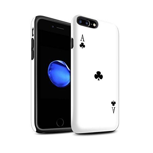 Coque Brillant Robuste Antichoc de STUFF4 / Coque pour Apple iPhone 4/4S / Joker Design / Cartes à Jouer Collection As de Trèfles