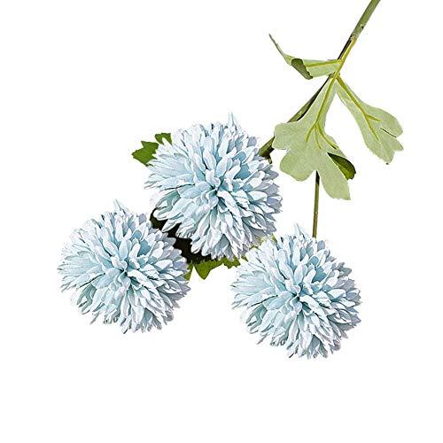 qiwounve 1 Stück Künstliche Chrysantheme Blume Foto Prop Hochzeit Home Floral Decor 8 Farben Blau (Silk Orchideen Bulk Flower)