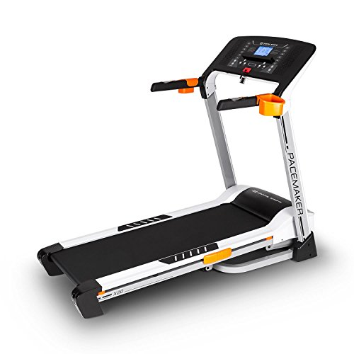 Capital Sports Pacemaker X20 • Laufband • Heimtrainer • Hometrainer • 1,75 PS • 1 km/h - 16 km/h • Trainingscomputer • 25 Programme • Pulsmesser • klappbar • Silber