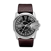 Diesel Men's Quartz Watch, Analog Display and Leather Strap Dz1206, Brown Band