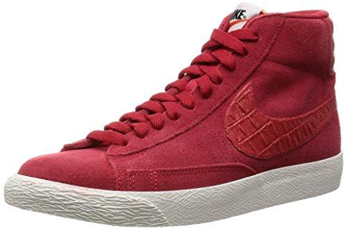 Nike Blazer Mid Prm Vntg, Chaussures de Sport-Basketball Homme, Bleu, Talla Multicolore (Rojo / Azul (Gym Red / Gym Red-Sail))